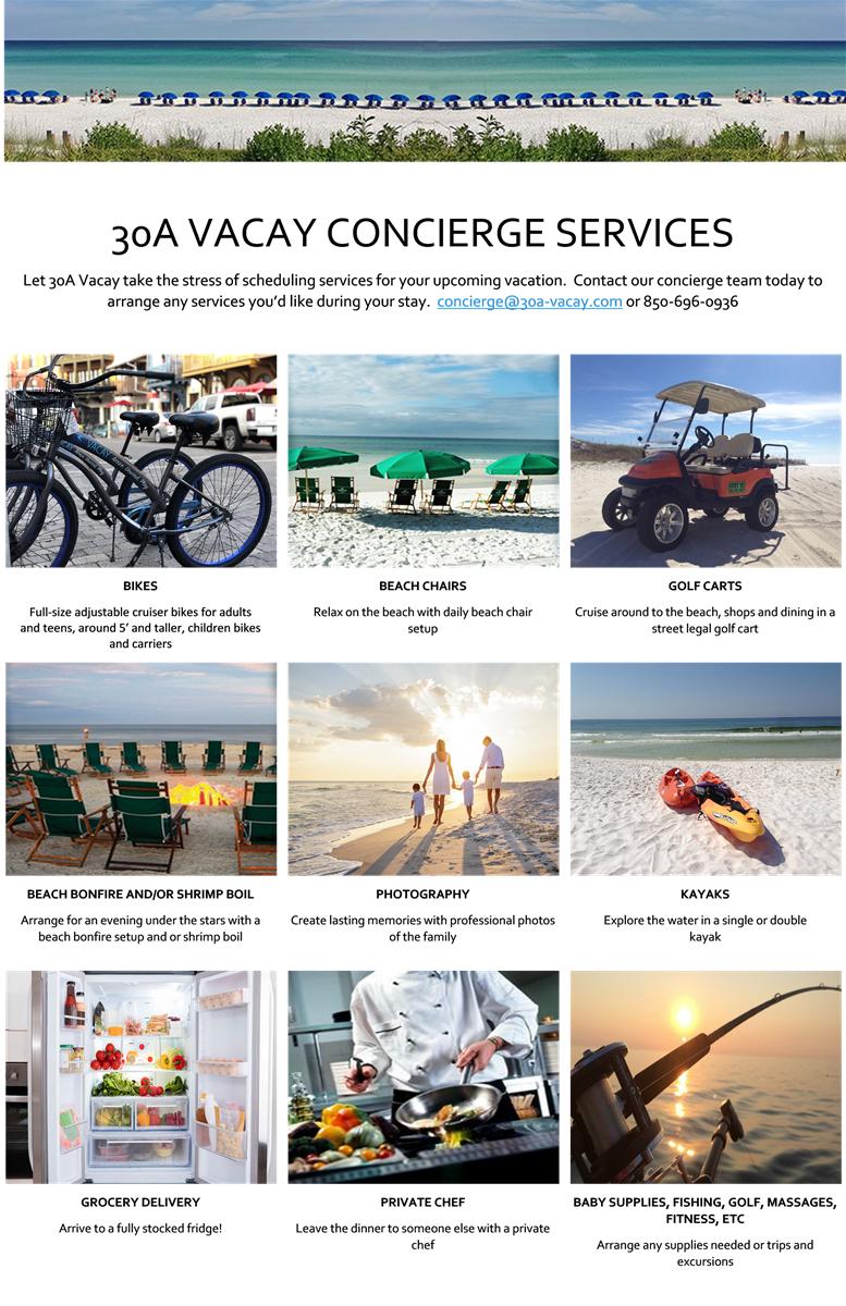 30a vacay concierge services